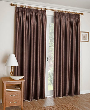 Apollo Ready Made Blockout Curtains Brown