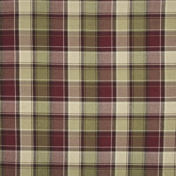 Argyle Curtain Fabric Claret