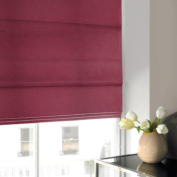 Art Silk Roman Blind Wine