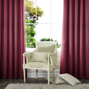 Art Silk Made to Measure Curtains Wine