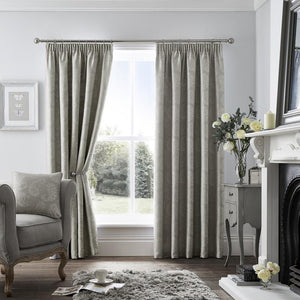Ashford Ready Made Fully Lined Curtains Dove Grey Silver