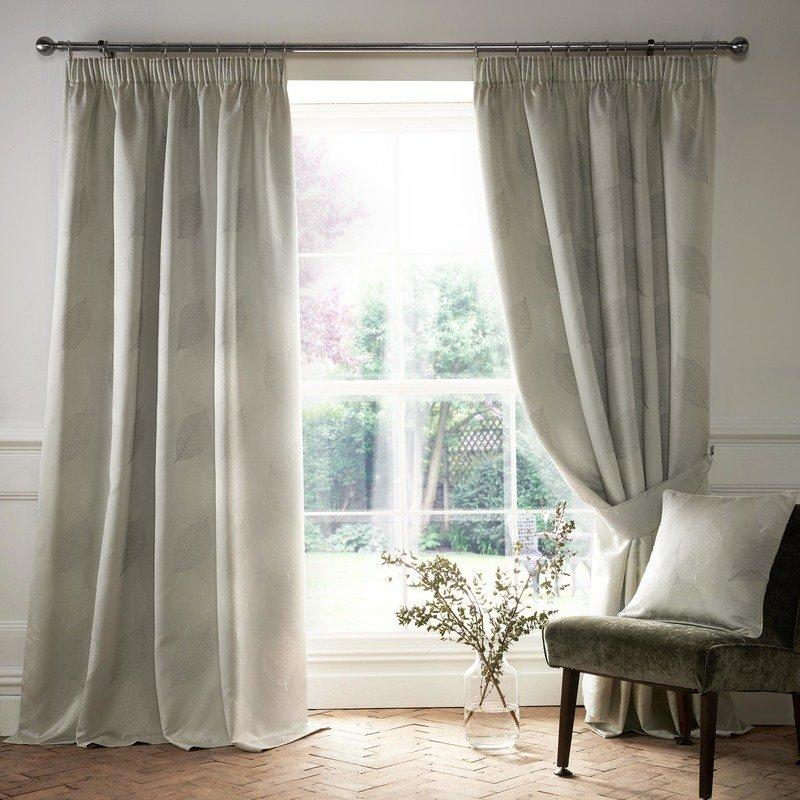 Ashley Wilde Ready Made Curtains  Ashwell Ready Made Lined Curtains Silver