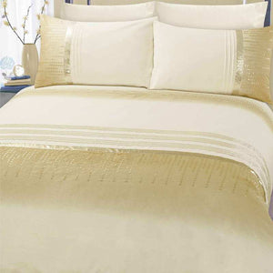 Athena Bedding Cream/Gold