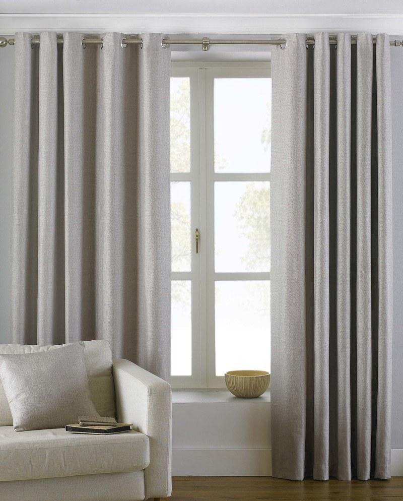 Riva Ready Made Curtains Atlantic Ready Made Lined Eyelet Curtains Natural Picture