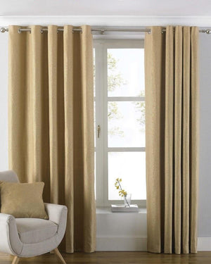 Atlantic Ready Made Lined Eyelet Curtains Ochre