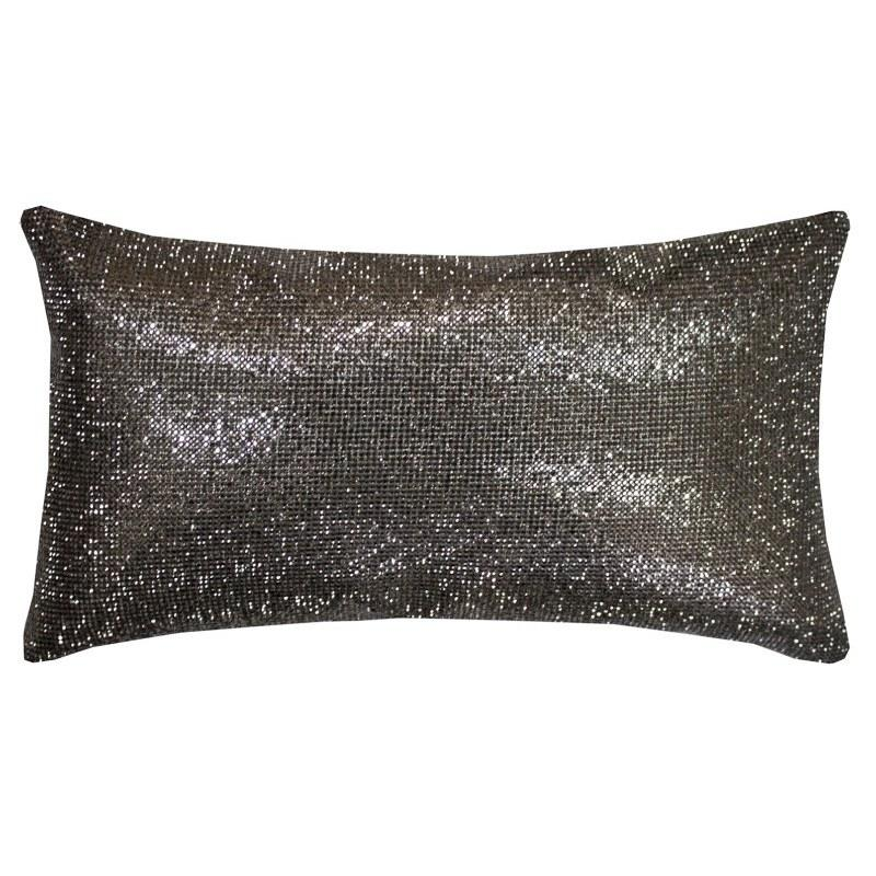 Ashley Wilde Cushions And Throws  Kylie Minogue Aurora Filled Boudoir Cushion Pewter
