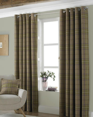 Aviemore Ready Made Lined Eyelet Curtains Thistle
