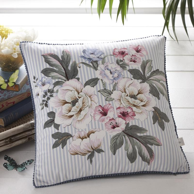 Clarke and Clarke Cushions and Throws Oasis - Bailey Filled Cushion Mineral Picture
