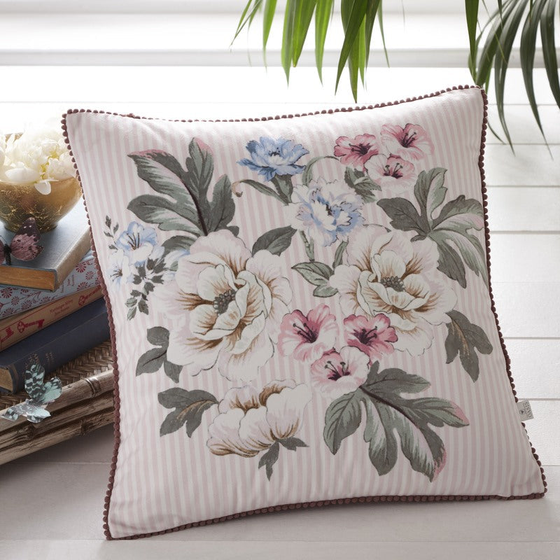 Clarke and Clarke Cushions and Throws Oasis - Bailey Filled Cushion Blush Picture