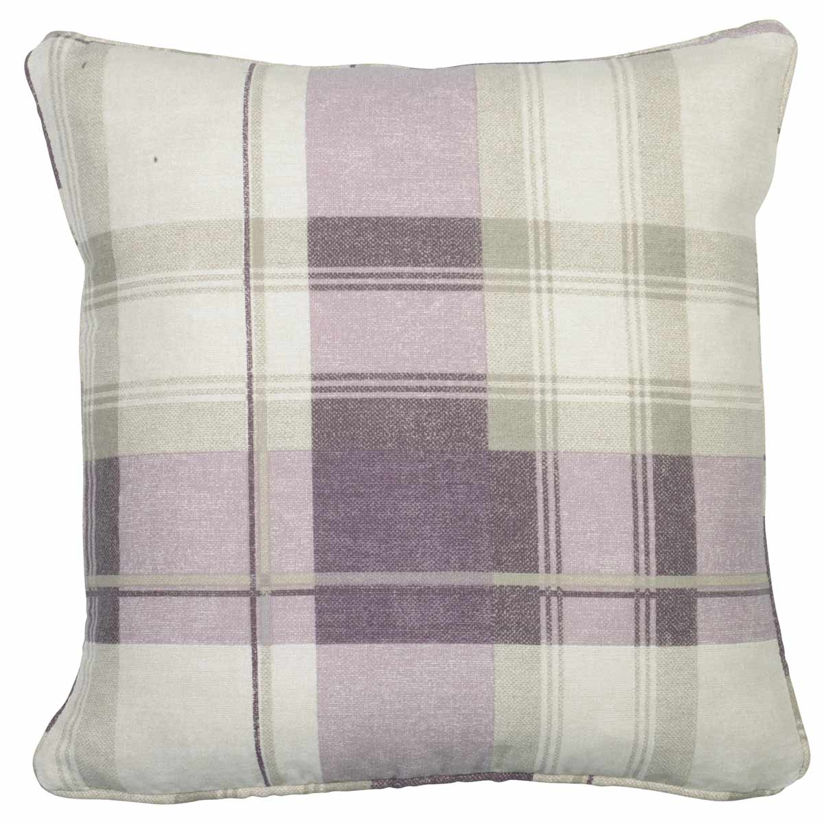 J Rosenthal Cushions And Throws  Balmoral Check C/Cover Plum