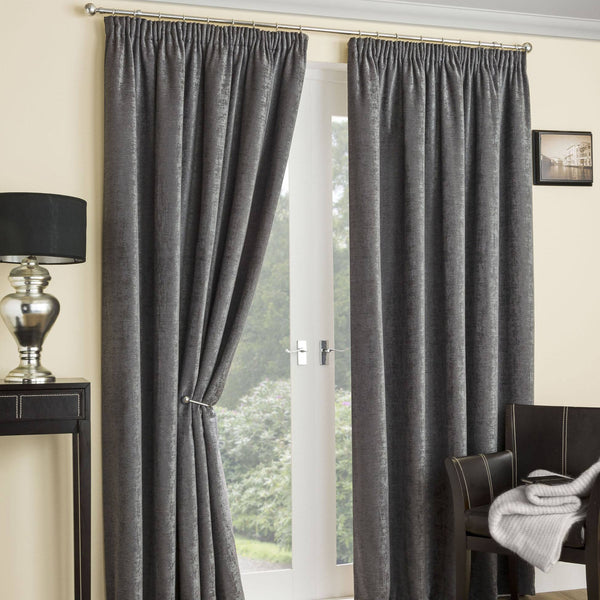 Balmoral Thermal Interlined Ready Made Curtains Grey
