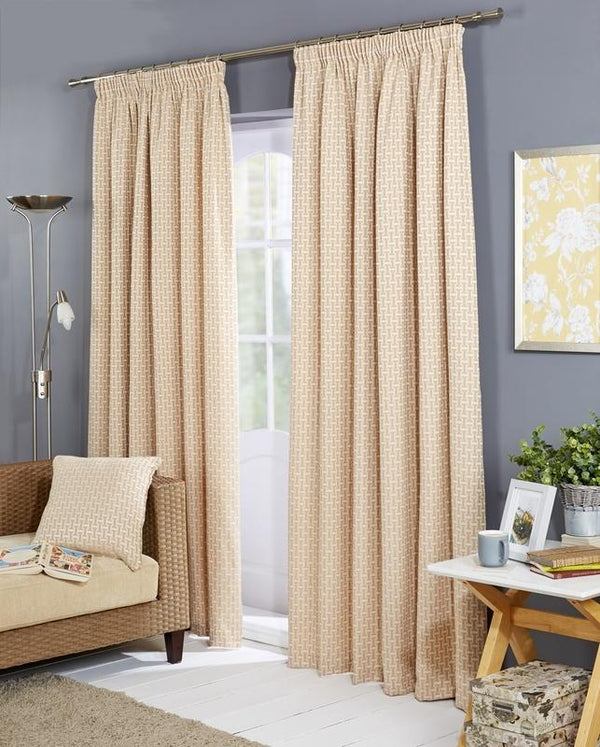 Balmoral Ready Made Lined Curtains Ochre