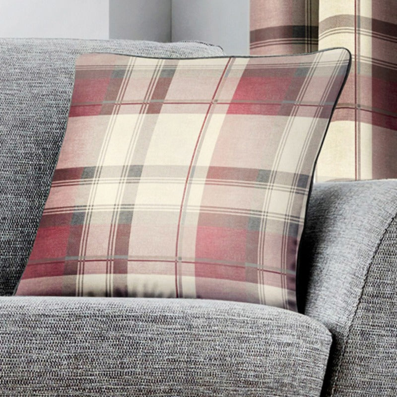 J Rosenthal Cushions And Throws Balmoral Check C/Cover Blush Picture