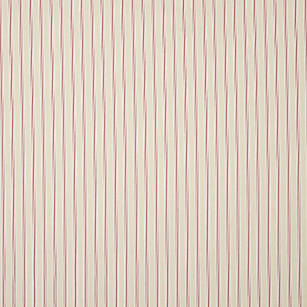Bay Stripe Curtain Fabric Rouge