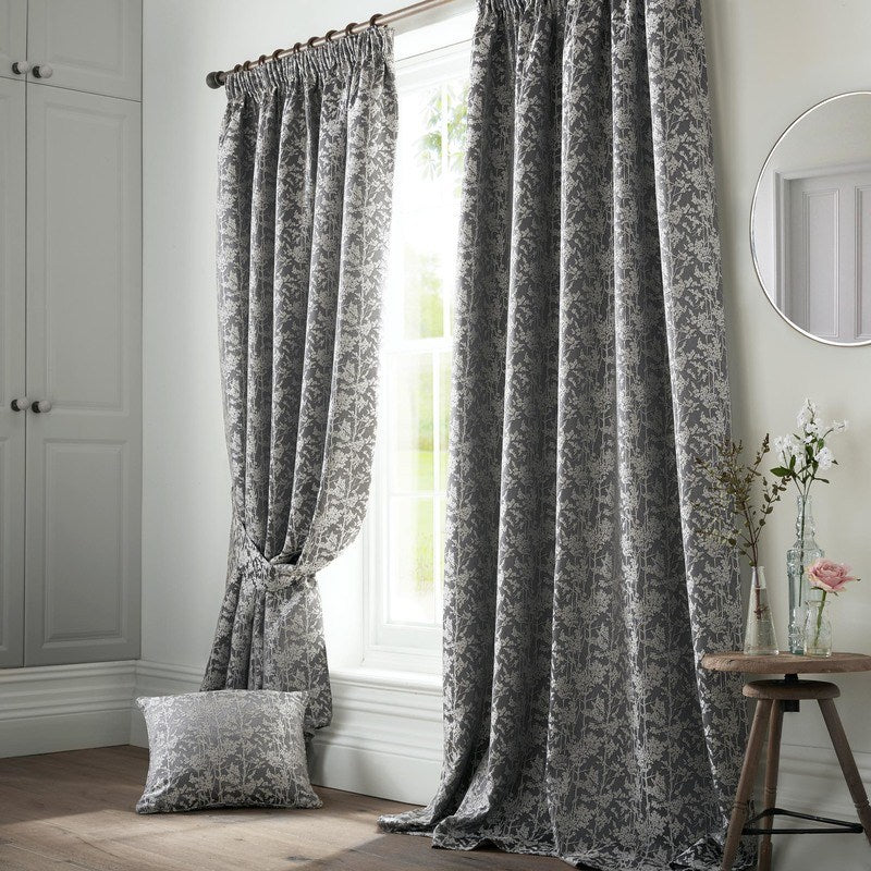 Ashley Wilde Ready Made Curtains  Bayford Ready Made Lined Curtains Grey