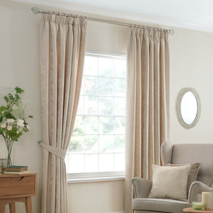 Beatrice Ready Made Lined Curtains Cream