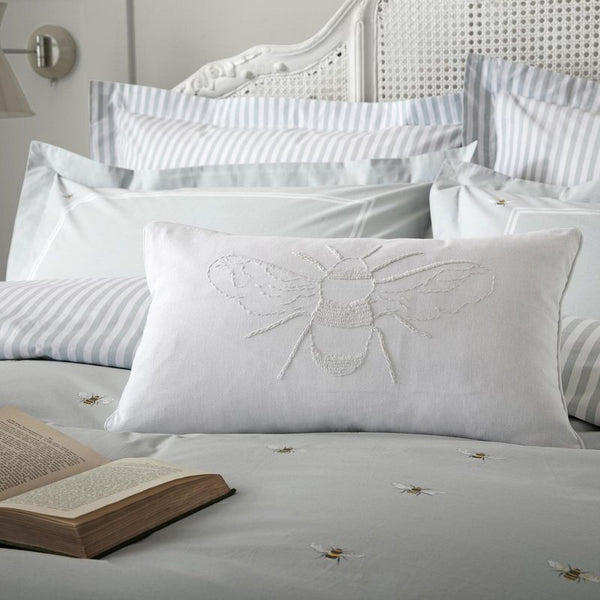Sophie Allport - Bees Feather Filled Cushion White