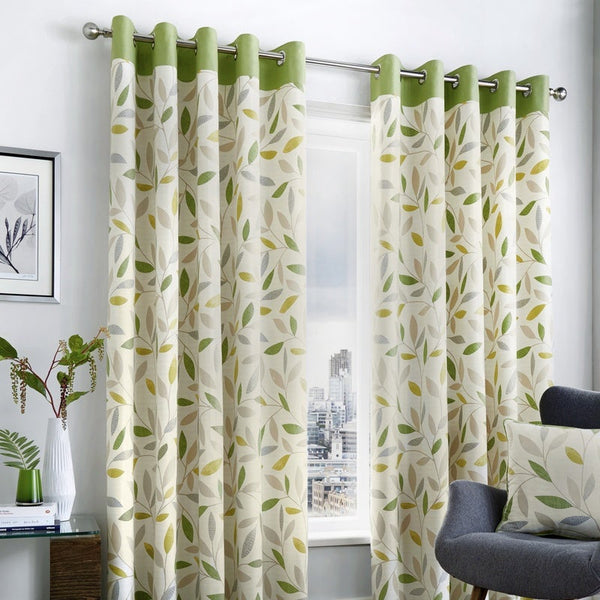 Beechwood Ready Made Eyelet Curtains Green
