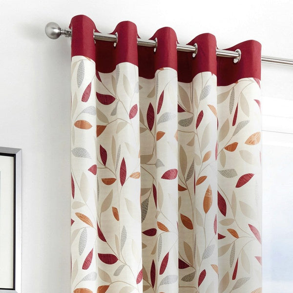 Beechwood Ready Made Eyelet Curtains Red