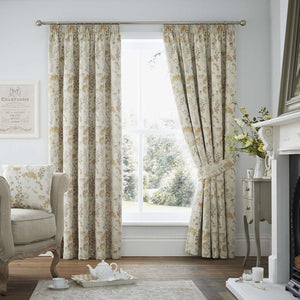 Berrington Luxury Ready Made Fully Lined Curtains Ochre