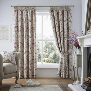 Berrington Luxury Ready Made Fully Lined Curtains Purple