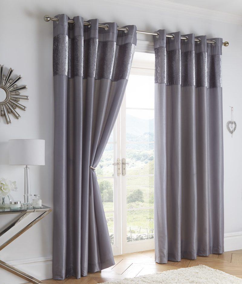 Portfolio Home Ready Made Curtains Boulevard Ready Made Eyelet Curtains Dove Grey