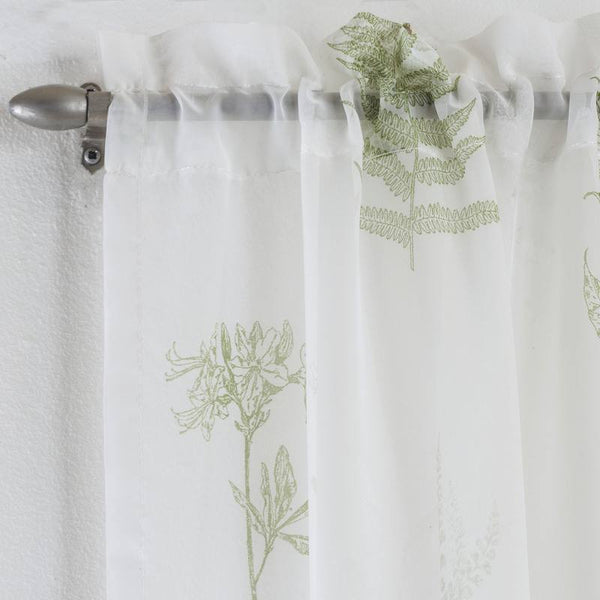 Bracken Voile Panel Green