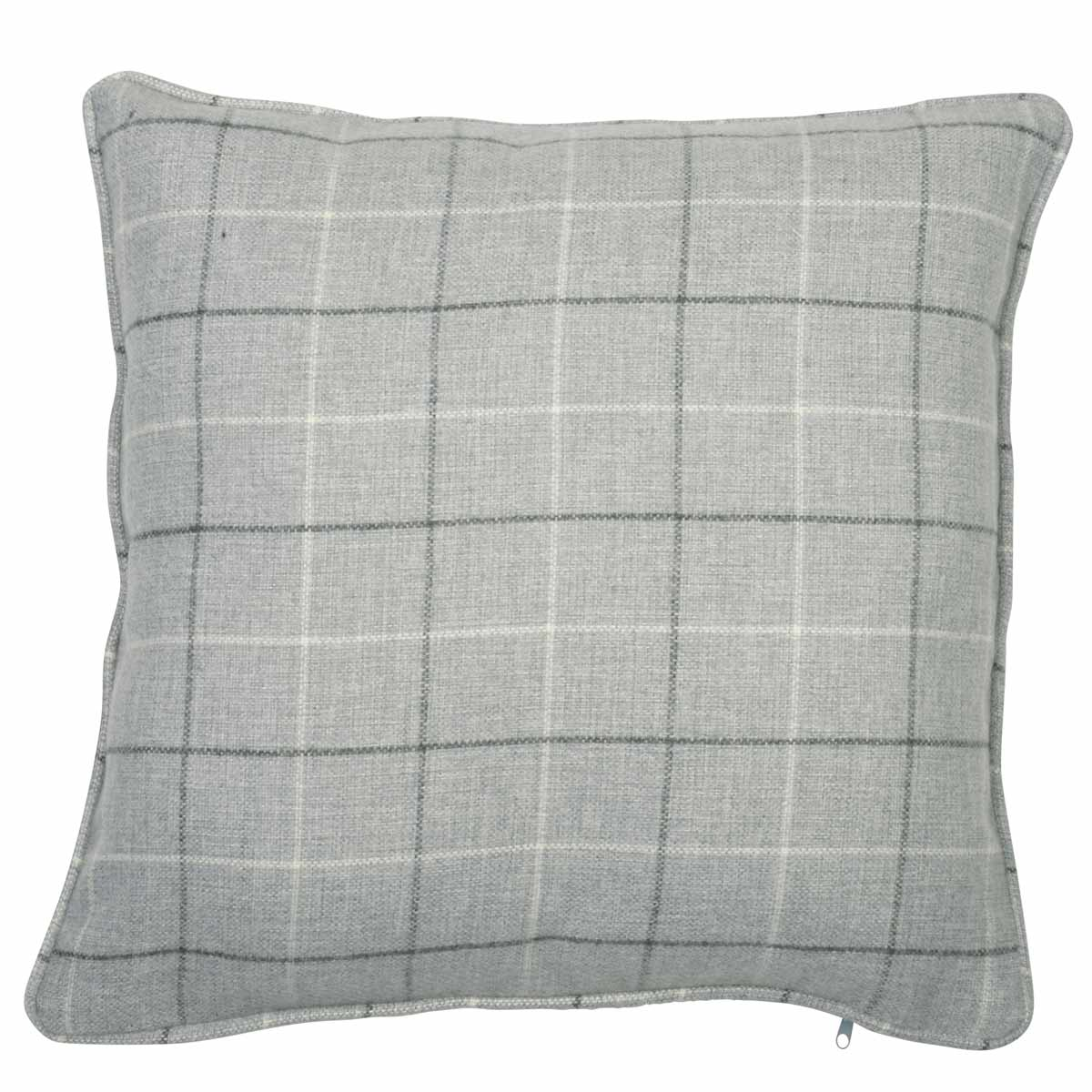 J Rosenthal Cushions And Throws  Braemar Check C/Cover Charcoal