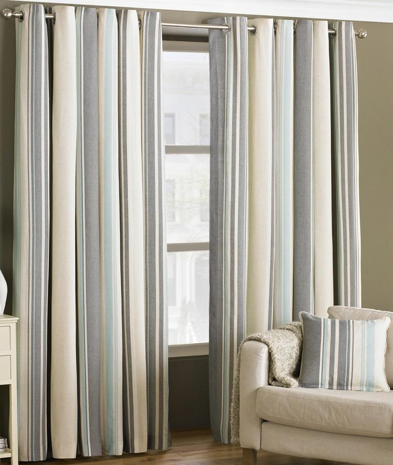 Riva Ready Made Curtains Broadway Readymade Lined Eyelet Curtains Duck Egg  ... Picture