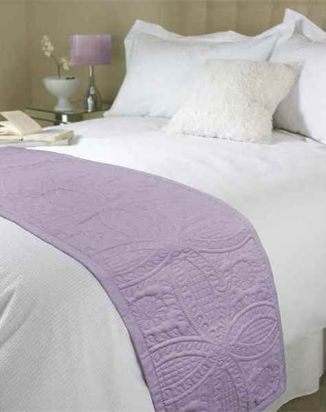 Beamfeature Cushions And Throws Embossed Parisienne Bed Runner Mauve Picture