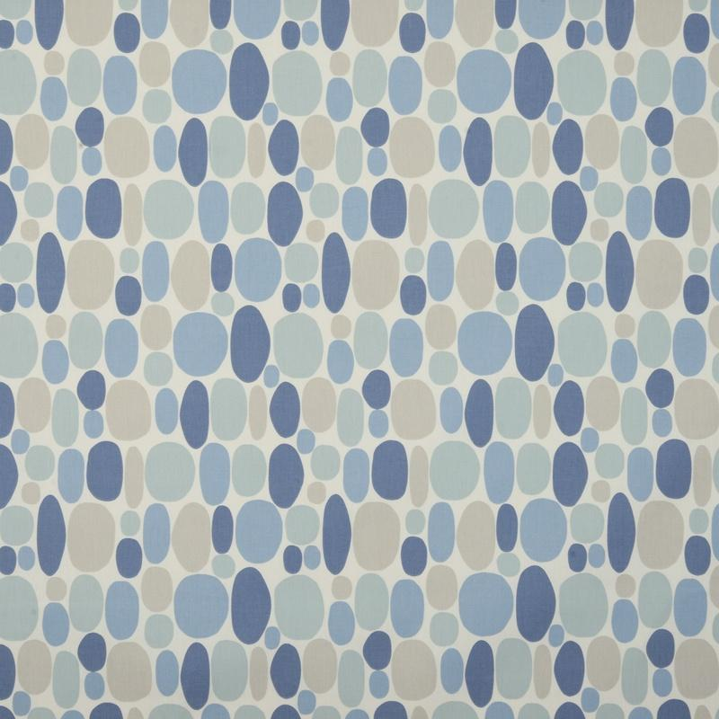 Clarke And Clarke Fabrics Bubble Curtain Fabric Denim Picture