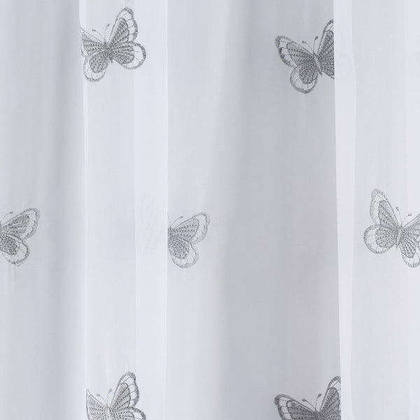 Butterfly Voile Panel Grey