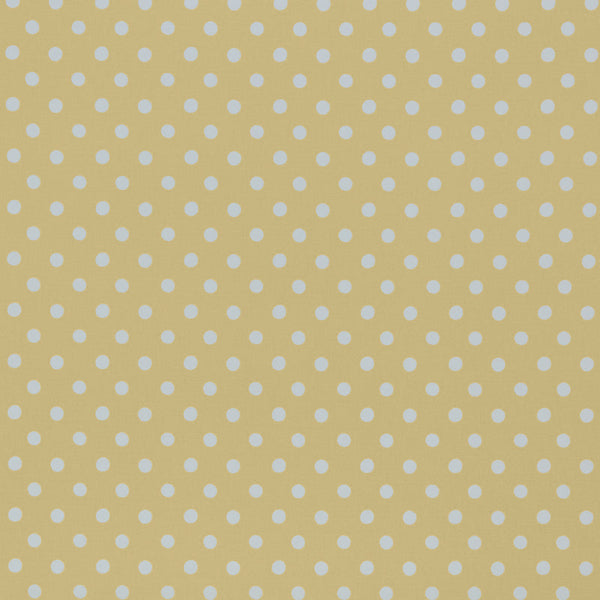 Button Spot Curtain Fabric Yellow