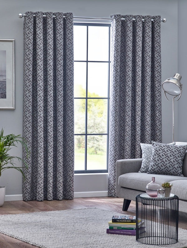 Byron Ready Made Eyelet Curtains Graphite
