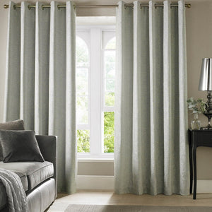 Cairo Ready Made Lined Eyelet Curtains Duck Egg