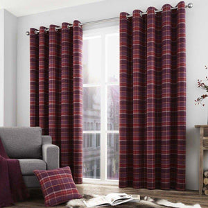 Cameron Luxury Ready Made Lined Eyelet Curtains Purple