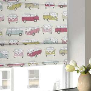 Campervans Roman Blind Pink