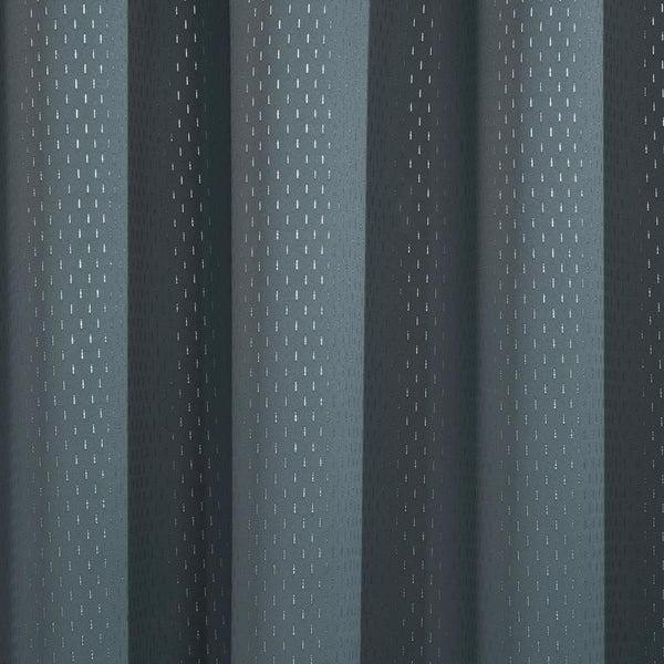 Carbon Thermal Blackout Ready Made Eyelet Curtains Carbon