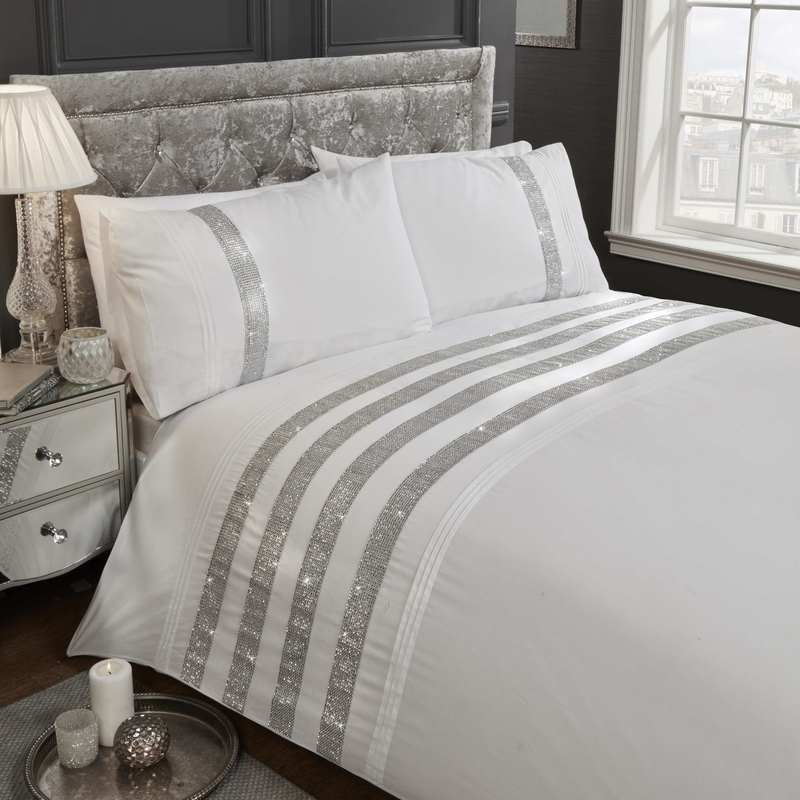 Rapport Beds Carly Embellished Bedding Set White Picture