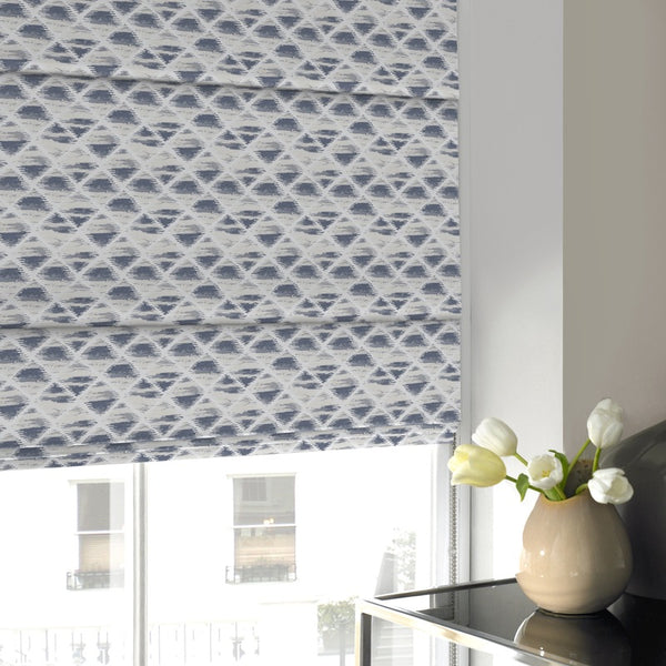 Carolina Roman Blind Indigo