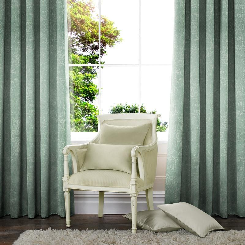 Illuminate Waterfall Made to Measure Curtains Duck Egg Picture