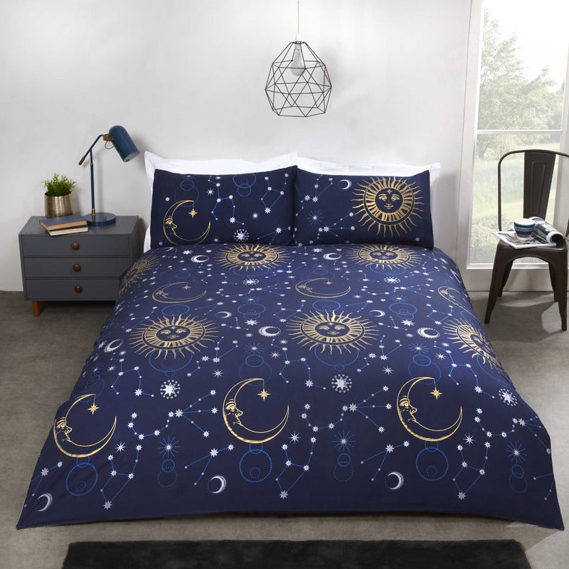 Rapport Homes Bedding Celestial Bedding Set Navy Picture