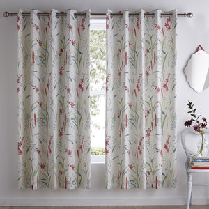 Celine Ready Made Eyelet Curtains Multi
