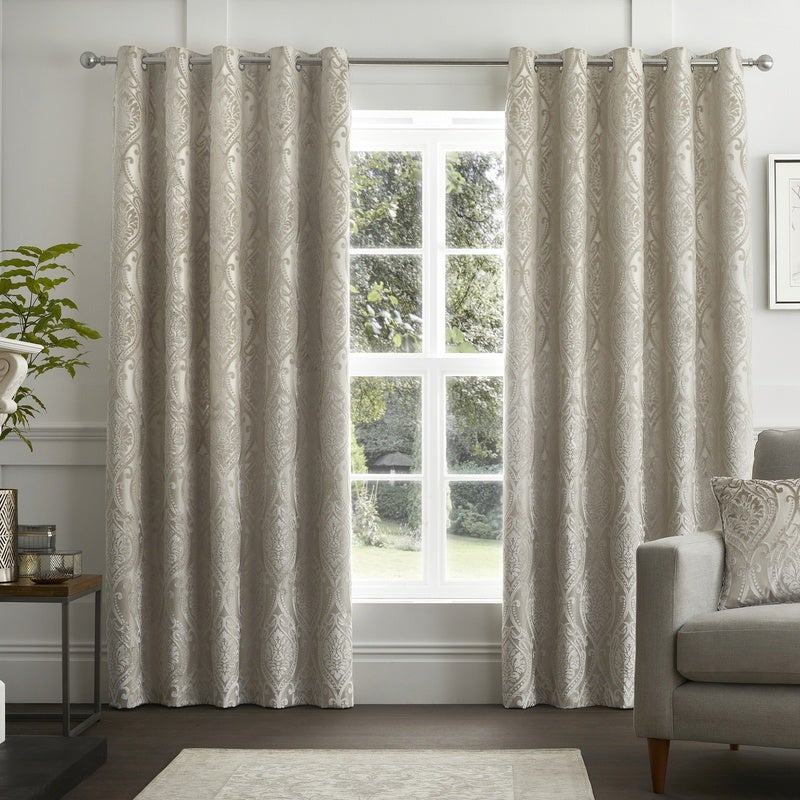 J Rosenthal Ready Made Curtains Chateau Ready Made Eyelet Curtains Natural Picture
