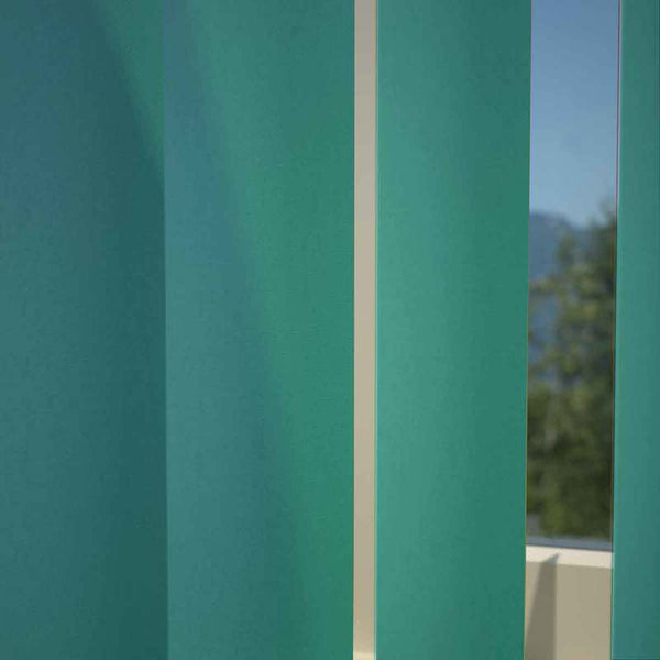 Chelsea Blackout Vertical Blind Teal