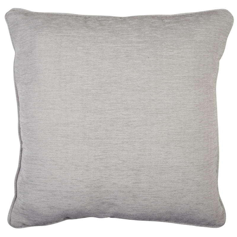 Alan Symonds Cushions And Throws Chenille Plain C/Cover Silver Picture