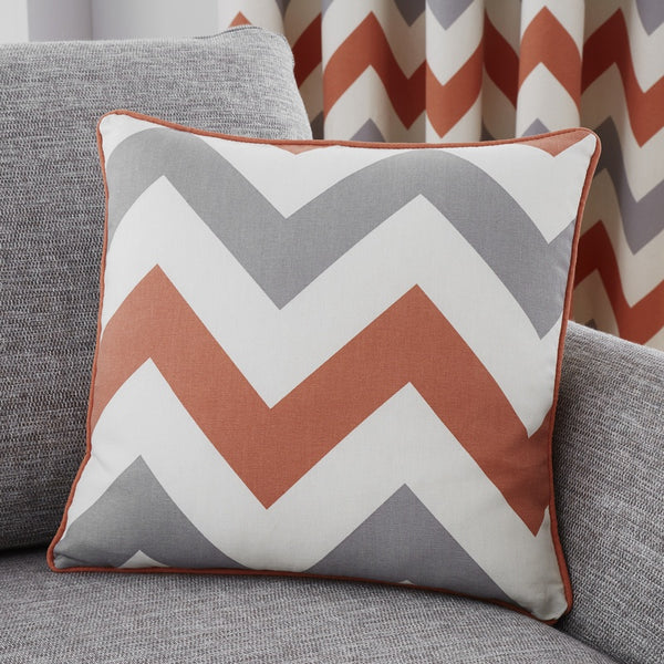 Chevron C/Cover Terracotta