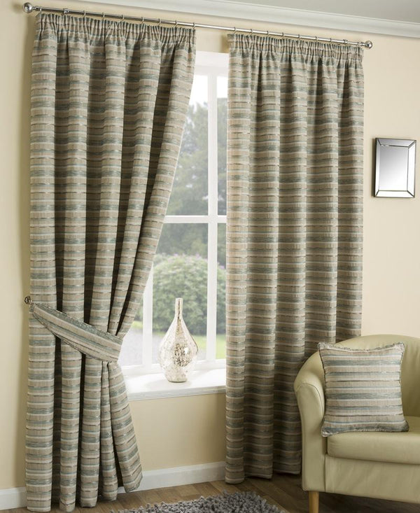 Chicago Ready Made Lined Curtains Aqua