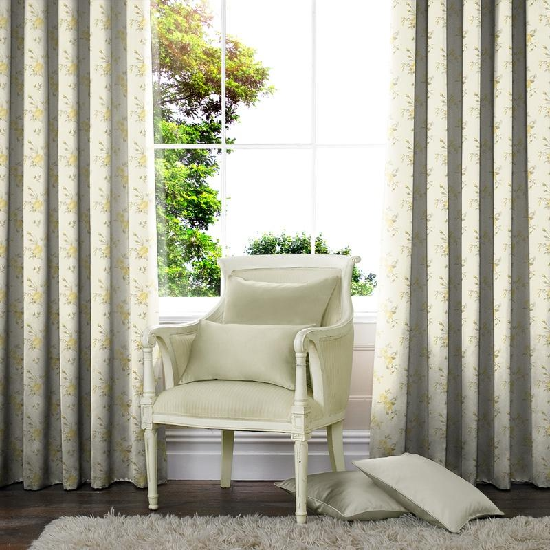 Illuminate Clare Made to Measure Curtains Lemon Picture