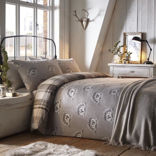 Colville Brushed Cotton Bedding Set Grey